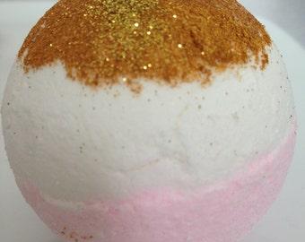 Golden Flamingo Bath Bomb/Bourbon Vanilla Bath Bomb/Bath Fizzies/Gold Bath Bomb/Pink Bath Bomb/lush