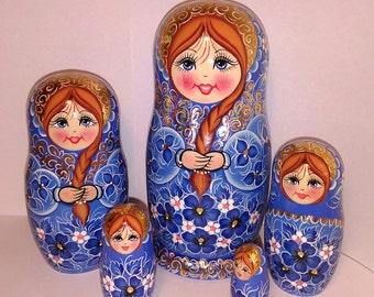 Matryoshka doll, russian nesting doll, Babushka doll