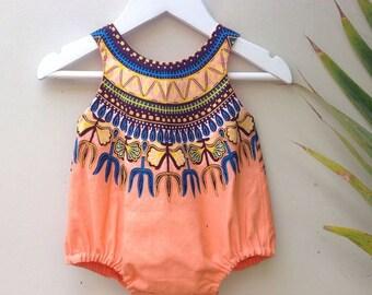 African print jumper,dashiki sunsuit,dashiki romper,dashiki jumper
