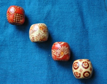 Printed Wooden Bead