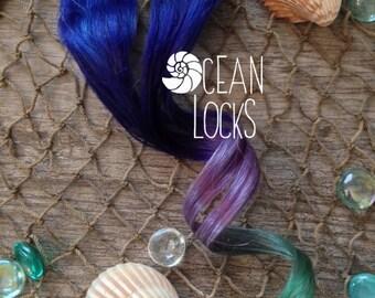 Blue hair, Green hair, Purple hair, Ombre Hair Extensions, Hair extensions clip in,Human Hair Extensions, Single clip in