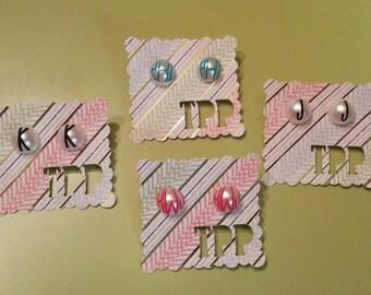 Monogrammed Earrings