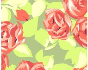 1 yard - Amy Butler Love Tumble Roses in Tangerine Fabric