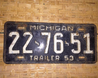 1953  Michigan license plate