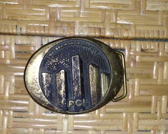 We believe in safety pcl brass belt buckle
