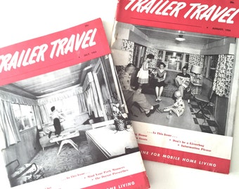 Two 1950s TRAILER TRAVEL Magazines