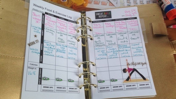 Fitness Planner Wkly Insert for Recollections// LV MM