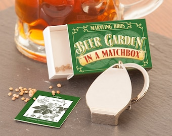 Beer Garden In A Matchbox - Beer lovers Gift - Grow Your Own Beer - Beer Gift For Dad - Craft Beer - Beer Gifts Men - Beer Plant - Matchbox