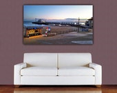 Bournemouth Pier Canvas Print, UK Pier Photograph, UK Pier Canvas Print, Bournemouth Beach Canvas, Bournemouth Wall Art, Bournemouth at dusk