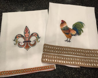 Custom Embroidered Kitchen Display Towels