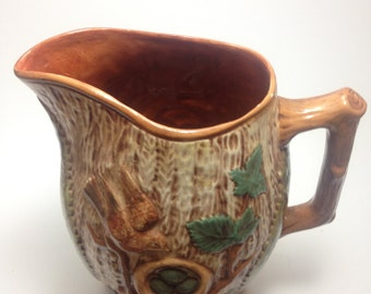 Vintage Ceramic Tree Pitcher Carafe-Signed Lyerly
