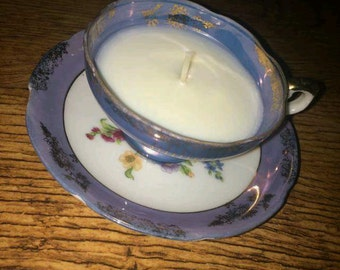 Soy wax tea cup candle