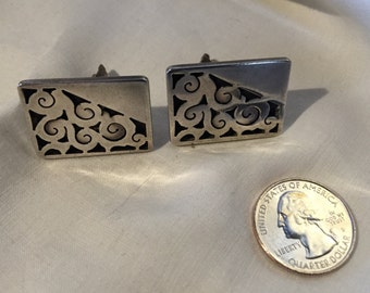 1970's Sterling Cufflinks from Mexico