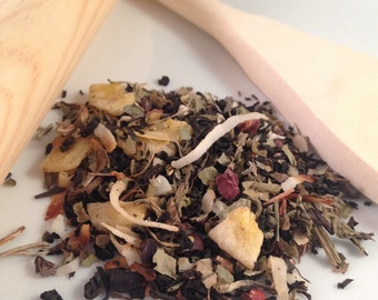 Chunky Monkey Loose Leaf Tea, Assam Black Tea (coconut, cocoa nibs, and banana)