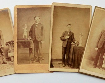 CDV Photos 4 Different Boys Confirmation Photos ca 1880