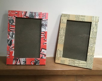 Paper collage photo frames