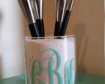 Monogram Makeup Brush Holder