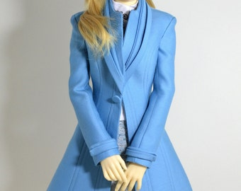 Sky Blue Coat for BJD Volks sd16, Iplehouse SID