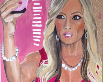 Real Housewives Tamra/Vain- Original artwork: Painting and Collage on Canvas