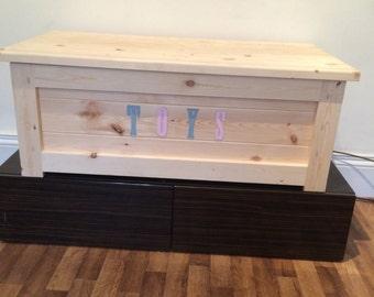 Handmade Wooden Toy Box.