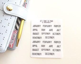 Month Sticker Labels