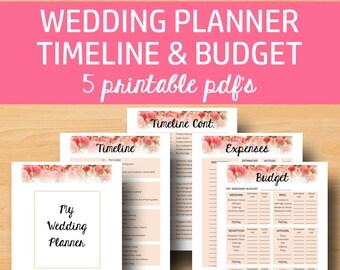 Wedding Planner Printable for Wedding Binder, Printable Wedding Planner Book, Planning Binder Printables, Checklist, Instant Download