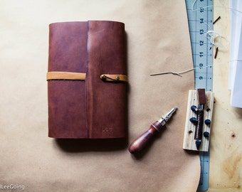 Smaller variation:     Customizable Hand Made Leather Travel Journal for Writers, Sketchers and Travelers