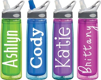 Custom Name Decal!  Perfect for school, work or the office!  Water bottles, lunchbags you name it! Variety of sizes available