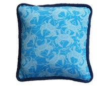 Maryland Blue Crab Pillow with trim