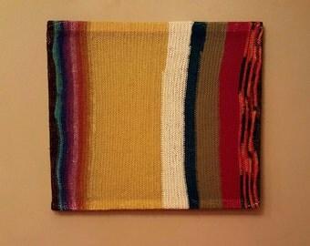 Hand knit stretch wall art