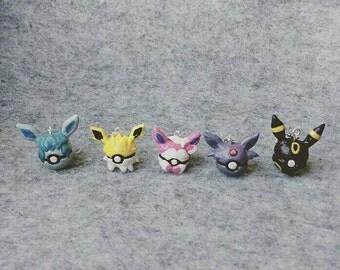 Custom JakePopDoodle Pokemon Pokeball Charms