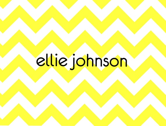 Item # 10122 Sunny Yellow Chevron. this cheerful design will brighten any correspondence.