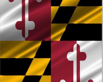 Maryland Flag Ripples LAMINATED Cornhole Wrap Bag Toss Decal Baggo Skin Sticker Wraps