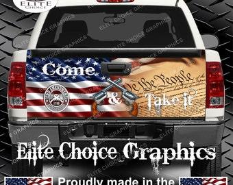 Gun Rights Truck Tailgate Wrap Vinyl Graphic Decal Sticker Wrap
