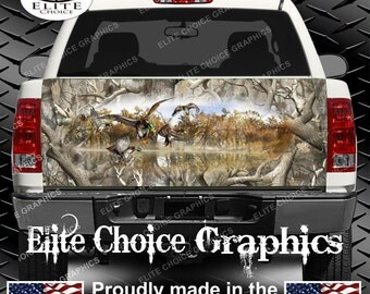 Mallards Duck Obliteration Camo Truck Tailgate Wrap Vinyl Graphic Decal Sticker Wrap