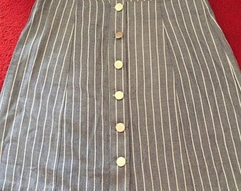 button skirt high waisted