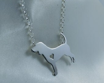 Silhouette pendant dog Beagle / Necklace Beagle dog