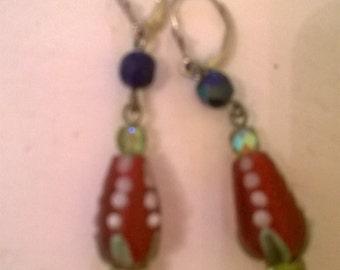 Murano Glass Earrings Trade Bead