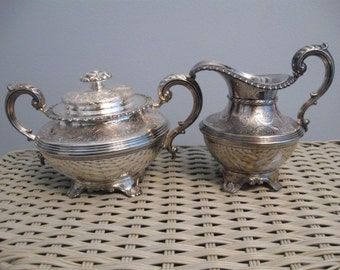 Langfords Galleries Sugar Bowl and Creamer