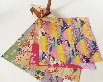 Origami Paper Sheets - Japanese Style Pattern Fancy Paper - 100 Sheets
