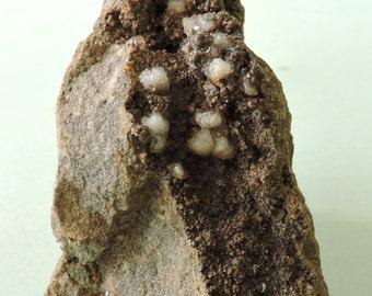 Dolomite and calcite, Namêche, Belgium - miniature