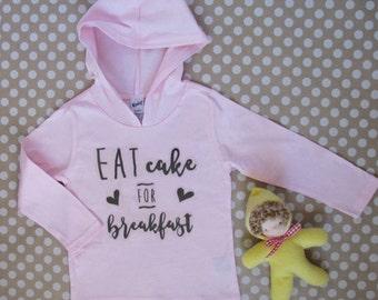 Eat Cake for Breakfast Birthday Shirt Celebrate Birthday Shirt Glitter Pink Eat Cake Shirt
