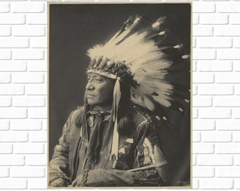 Painted Horse - Sioux - Frank Rinehart - 1899 - Photo - Print - Photography - Vintage - Native American - Photograph - Antique - History