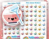42 pegatinas de color/tinte/recordatorio planificador de pelo lindo, Filofax, Erin Condren, planificador feliz, Kawaii, Cute pegatina, Reino Unido