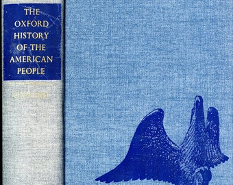 Vintage Denim Covered Book, The Oxford History of the American People, by Samuel Elliot Morison, 1965