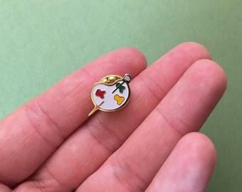 Tiny Artist Paint Palette Brooch Pin