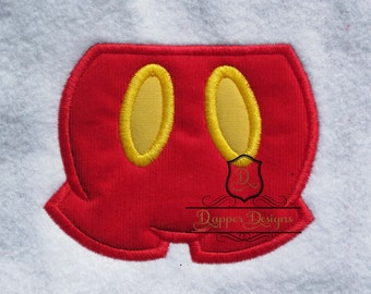 Mouse Pants Machine Embroidery Applique Design Use Coupon Code PRINCESS for 15% Off