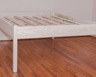 Elevated Queen Platform Bed- UNFINISHED