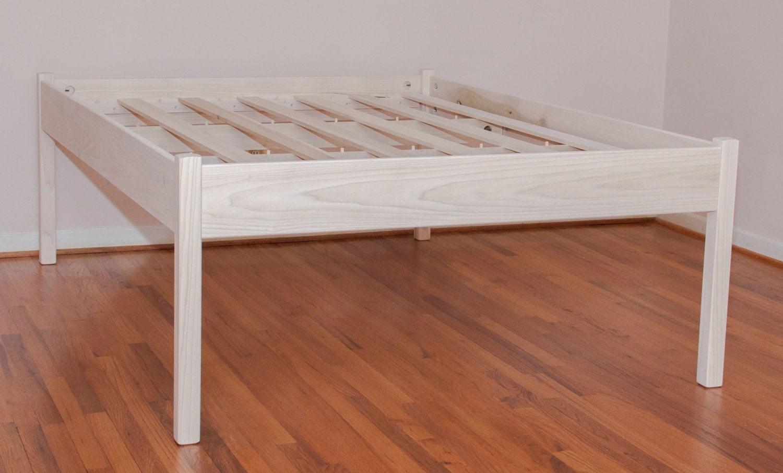 sale priced elevated queen platform bed unfinished. Black Bedroom Furniture Sets. Home Design Ideas