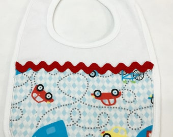 Colorful Vehicle Bib for Boy